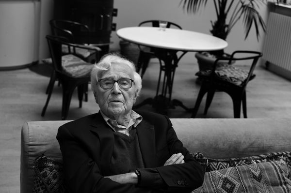 John Morris at home in Paris