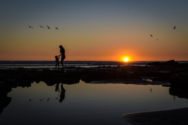 Mother and Daughter Sunset by Andy Scaysbrook photographic print