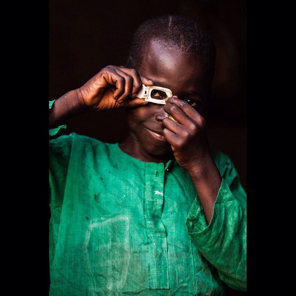 Mustafa, budding photographer, Central Africa Republic