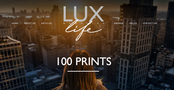 100 Prints Wins Lux Award