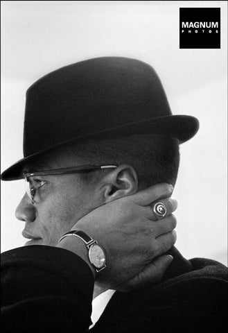 Photo: Eve Arnold. Malcom X, Chicago, USA. 1961