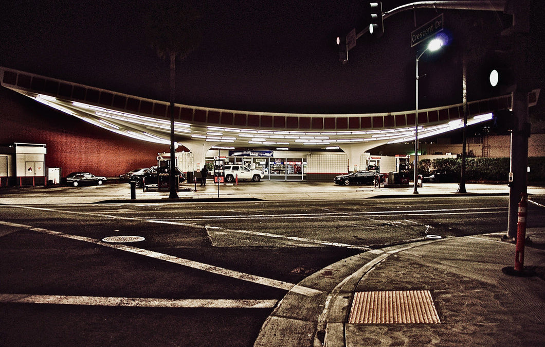 Beverly Hills Gas Station by Barbara Parkins