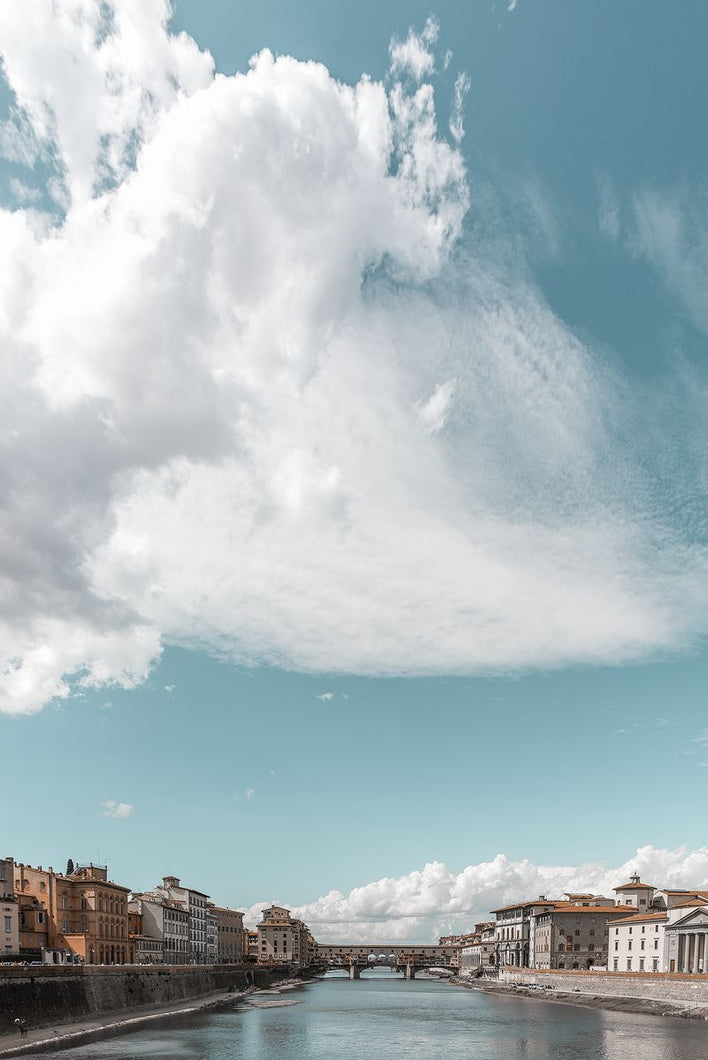 Photography Art Print, Under the Florentine Clouds by Tatiana Kuzyk