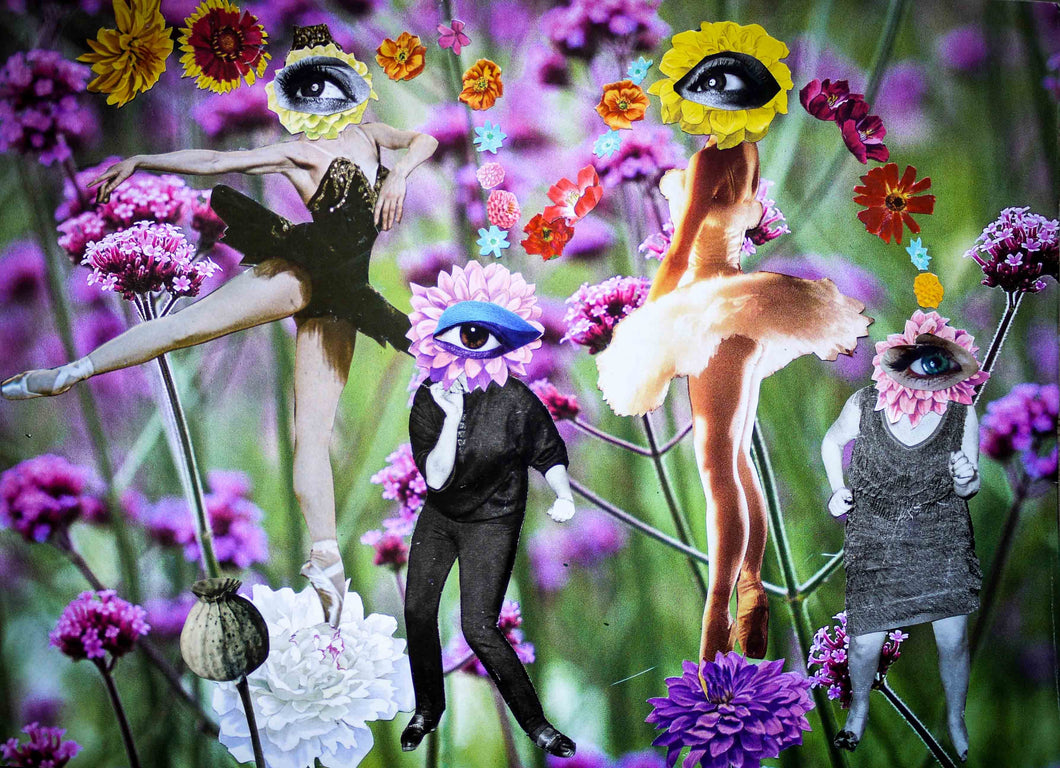 Photo Collage: Floral Consciousness by Toni Peach at 100Prints.co.uk