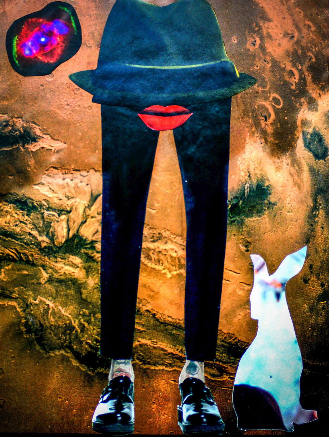 Photo Collage: Legs, Lips, Hare by Toni Peach at 100Prints.co.uk
