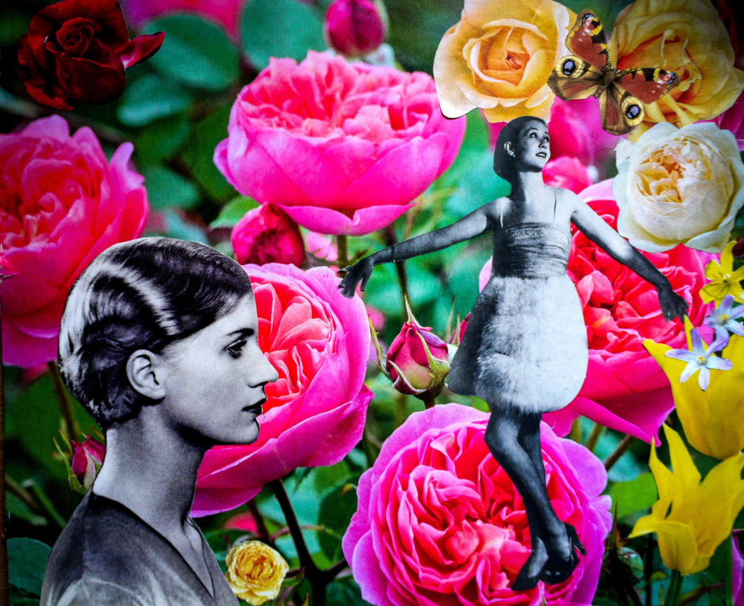 Photo Collage: Man Ray In The Roses by Toni Peach at 100Prints.co.uk