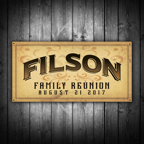 Customized Antique Family Reunion Banner - River Valley Special Tee's
