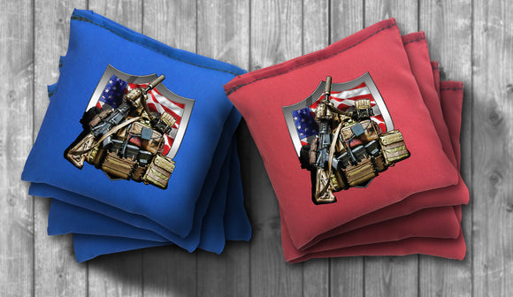 Army Gear Cornhole Bag Set - Choose your Colors! - River Valley Special Tee's