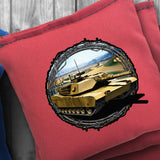 Army Tank Cornhole Bag Set - Choose your Colors! - River Valley Special Tee's