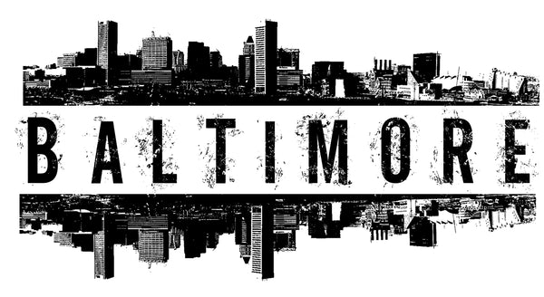 Baltimore Skyline Shirt - Unisex Adult T-Shirt - River Valley Special Tee's