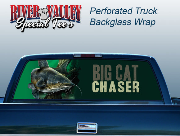 Big Cat Chaser Truck Window Wrap - River Valley Special Tee's