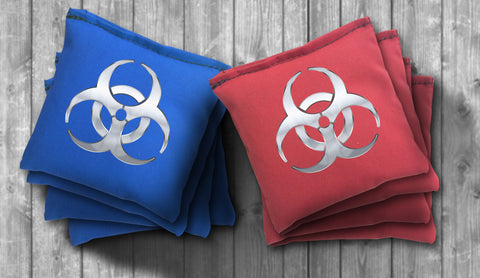 Biohazard Cornhole Bag Set - Choose your Colors! - River Valley Special Tee's