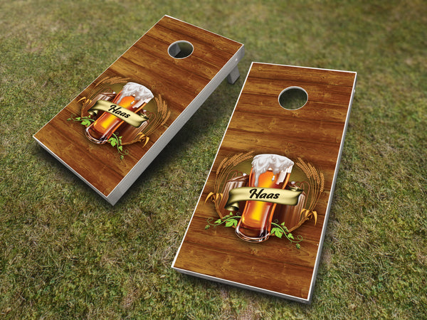 Beer Brew Pint Cornhole Set - Customized