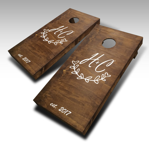 Stained Wedding Cornhole Set - Customized - River Valley Special Tee's