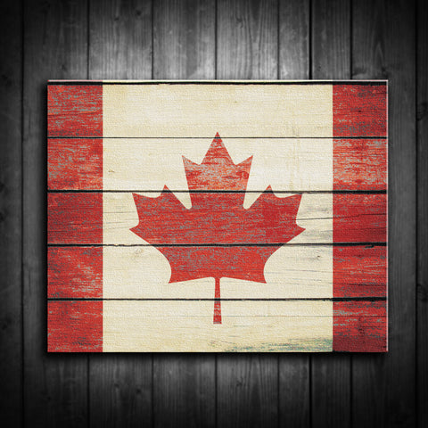 Distressed Canadian Flag Canvas Print - Multiple Sizes! - River Valley Special Tee's
