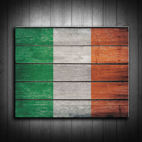 Distressed Irish Flag Canvas Print - Multiple Sizes! - River Valley Special Tee's
