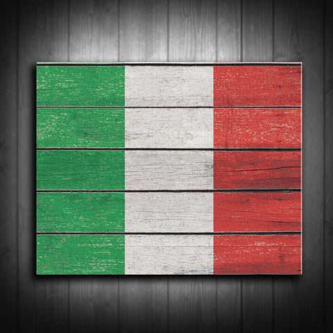 Distressed Italian Flag Canvas Print - Multiple Sizes! - River Valley Special Tee's