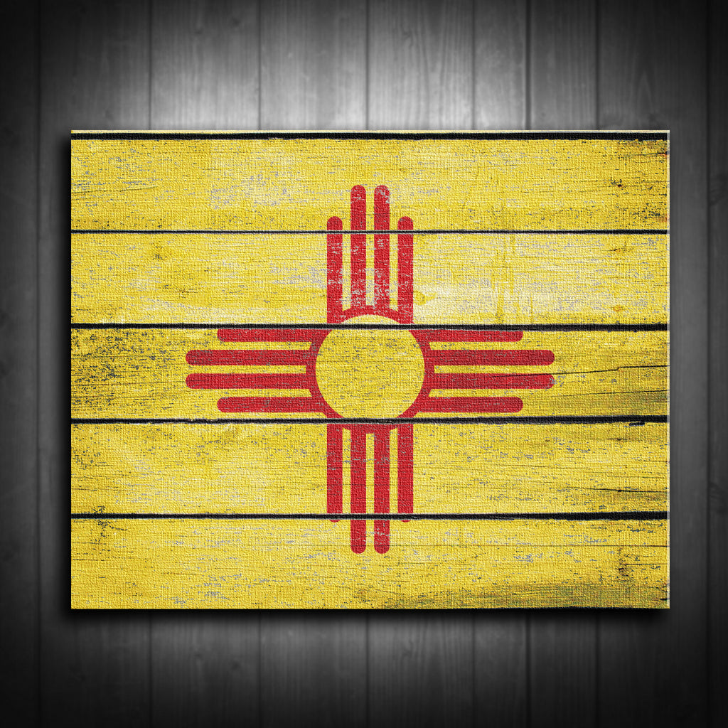 New Mexico Flag Canvas Decor