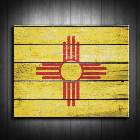 Distressed New Mexico Flag Canvas Print - Multiple Sizes! - River Valley Special Tee's