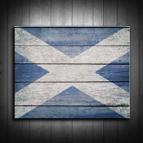 Distressed Scottish Flag Canvas Print - Multiple Sizes! - River Valley Special Tee's