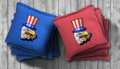 Uncle Sam Eagle Cornhole Bag Set - Choose your Colors! - River Valley Special Tee's