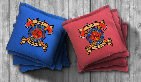 Custom Fire Department Cornhole Bag Set - Personalized Bags - Choose your Colors! - River Valley Special Tee's