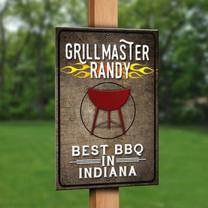 Customized Grillmaster Sign - Use your name, location! - River Valley Special Tee's