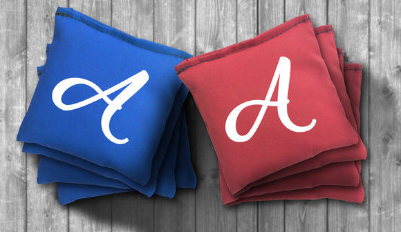 Custom Initial Cornhole Bag Set - Use your Letter - Choose your Colors! - River Valley Special Tee's