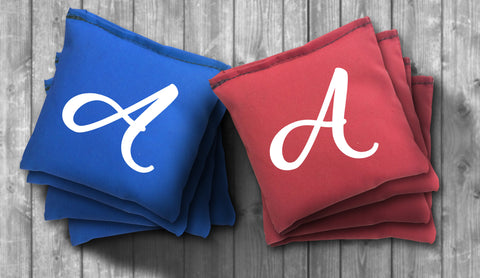 Custom Initial Cornhole Bag Set - Use your Letter - Choose your Colors!
