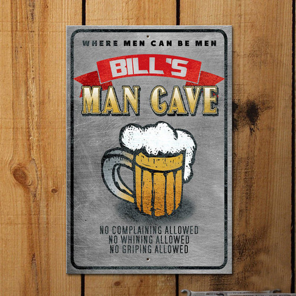 Customized Man Cave Sign - Use your name! - River Valley Special Tee's