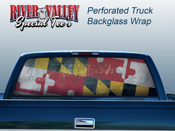 Maryland Flag Truck Window Wrap - River Valley Special Tee's