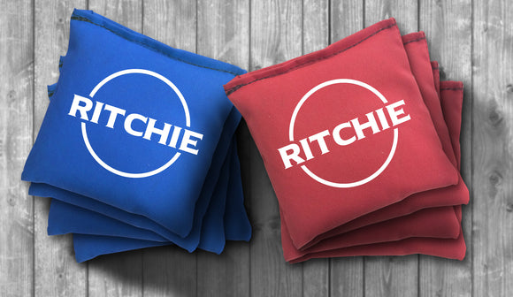Custom Name Cornhole Bag Set - Use your Name - Choose your Colors! - River Valley Special Tee's