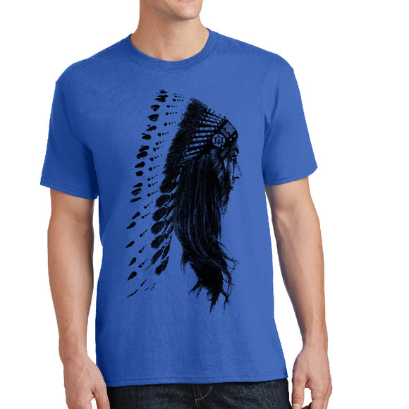 Native Headdress - Unisex T-shirt - Pick your size and color! - River Valley Special Tee's