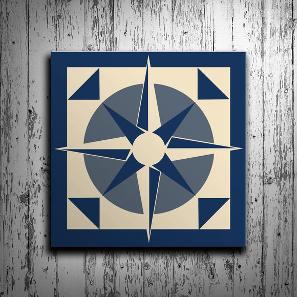 Nautical Compass Barn Quilt - River Valley Special Tee's