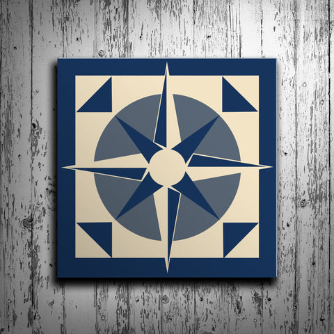 Nautical Compass Barn Quilt