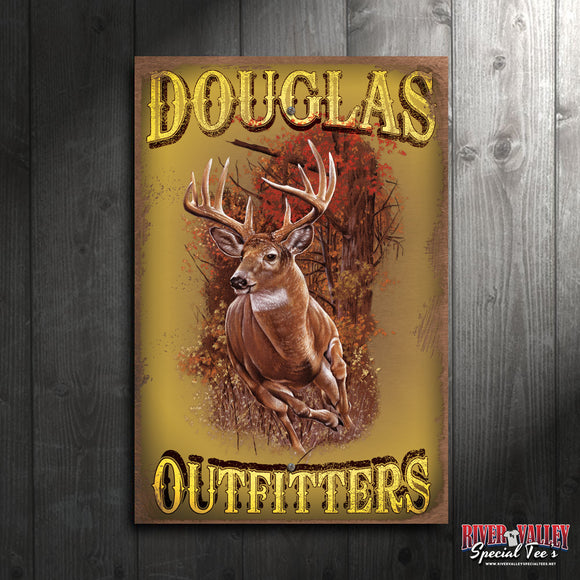 Customized Outfitters - Big Buck Metal Sign Decor - River Valley Special Tee's