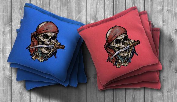 Pirate Cornhole Bag Set - Choose your Colors! - River Valley Special Tee's