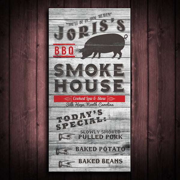 Customized Smokehouse Canvas Print - Multiple Sizes!