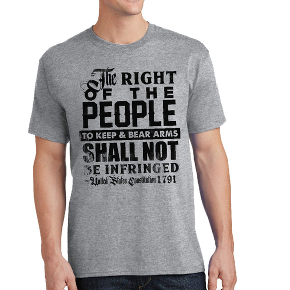 Right of the People - 2nd Amendment Unisex Shirt - Pick your Shirt Color! - River Valley Special Tee's
