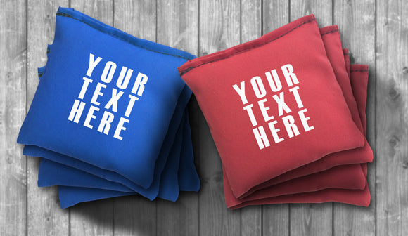 Custom Text Cornhole Bag Set - Personalized Bags - Choose your Colors! - River Valley Special Tee's