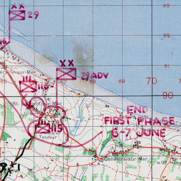 29th Infantry Division Operation Overlord Map