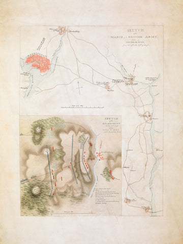 Battle of Bladensburg, 1814, Md., War of 1812, Manuscript Sketch