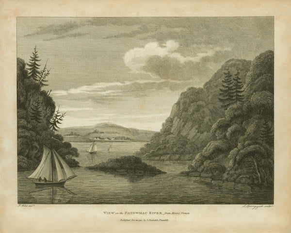 Mount Vernon, 1798, View on the Potomac River