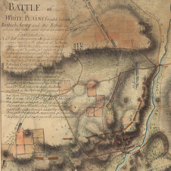New York, 1776, 1777, Campaign Headquarters, Blaskowitz, Revolutionary War Map