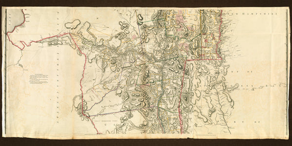 New York, 1776, Province of New York, Mohawk Valley, Hudson Valley, Old Map
