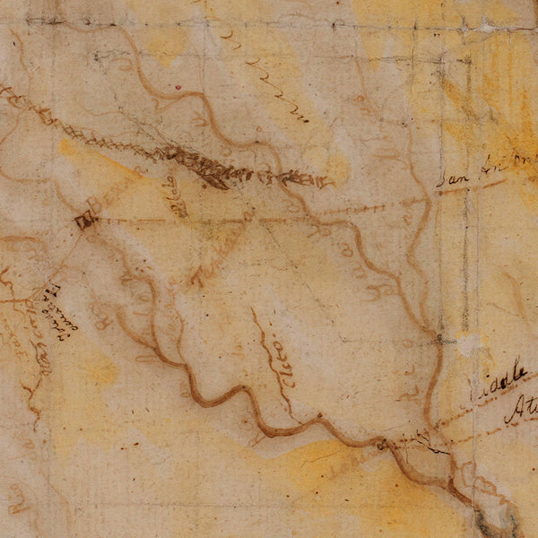 Texas, 1822, Mapa Geografico, Stephen F. Austin Manuscript Map