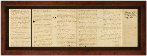 Texas, 1831, Austin-Williams Grant, Stephen F. Austin, Sterling C. Robertson, Framed