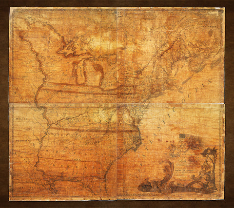 USA, 1784, North America, Abel Buell Map