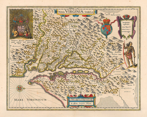 Virginia, 1640, Nova Virginiæ Tabula, John Smith Map