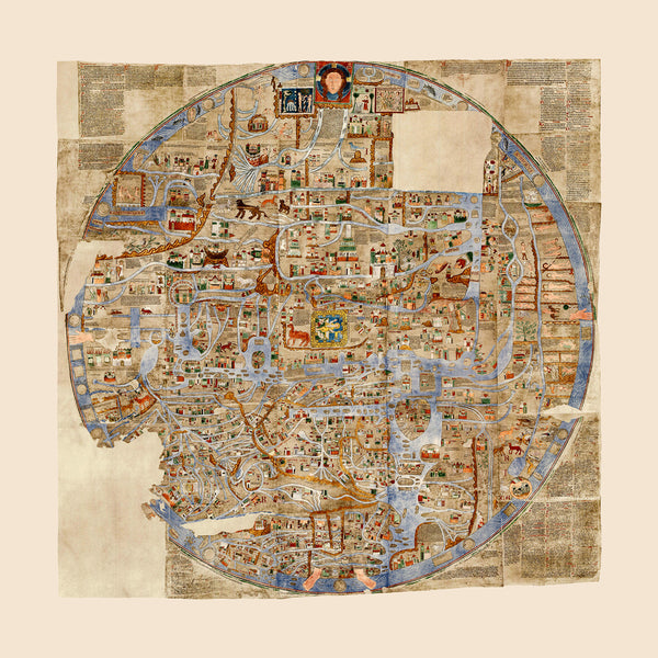 Ebstorf World Map, 1234 A.D., Mappa Mundi